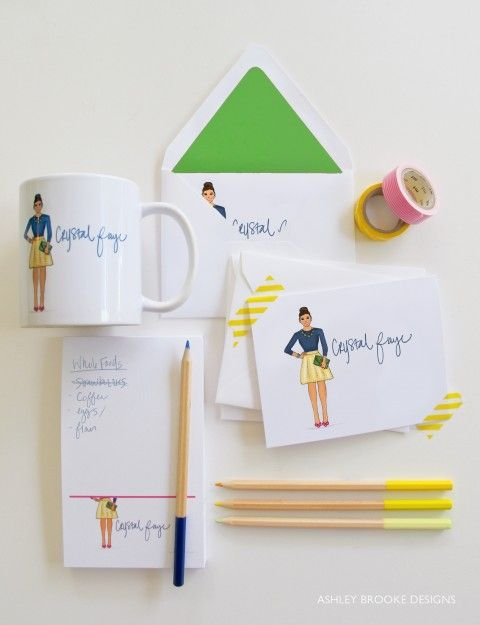 new custom illustration personal stationery design inspirations