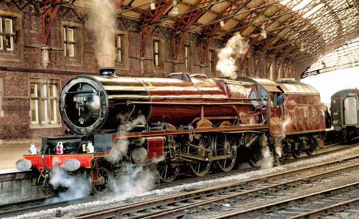 Stanier LMS Pacific 6201 at Temple Meads, Bristol Steam