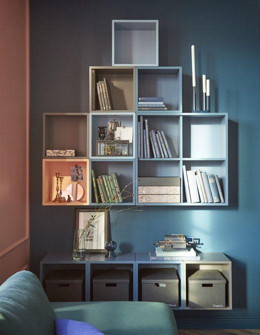 mit eket schr nken von ikea definierst du wandaufbewahrung neu in dieser l sung haben wir u a. Black Bedroom Furniture Sets. Home Design Ideas