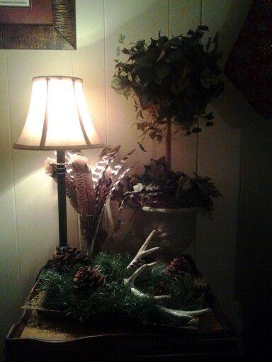 Antlers, pinecones, turkey feathers...love bringing nature indoors!