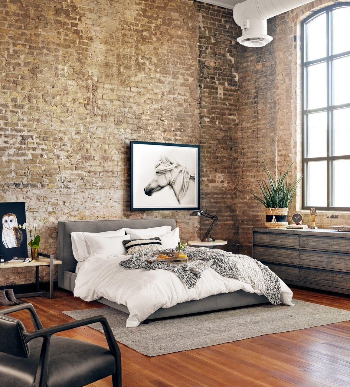 Loft bedroom style  Gardiner Low Profile Upholstered King Platform Bed  King platform
