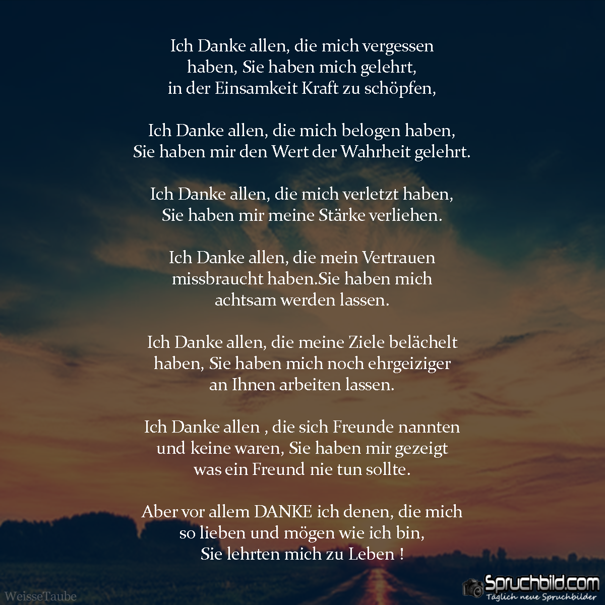 Ich Danke allen | Bilder | Quotes, Wise quotes und True words