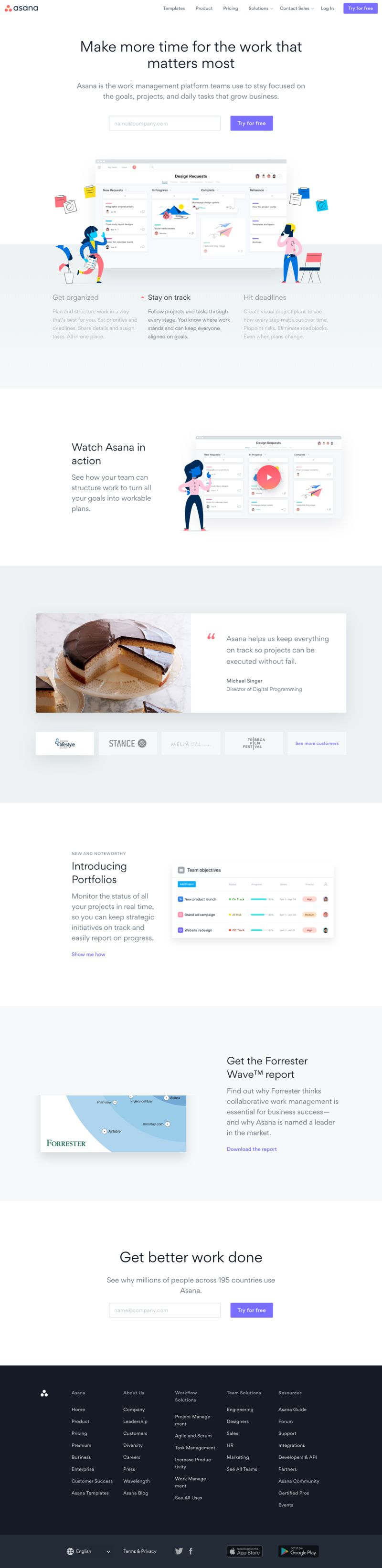 Webdesign Asana Easily Organize And Plan Workflows Projects And More So You Can Keep Your Teams Work On Schedule Sta Web Design Web Design Inspiration Asana