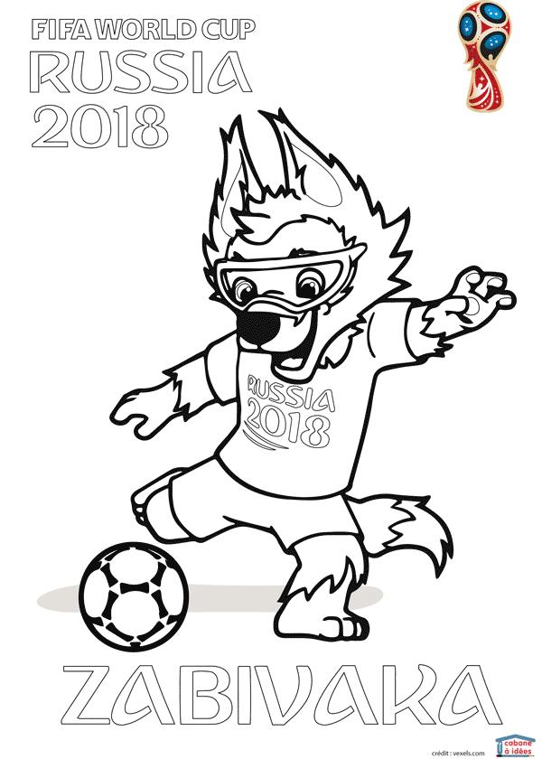 Coloriages De La Coupe De Foot 2018 Football World Cup 2018