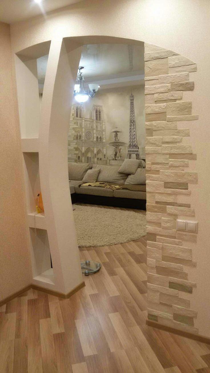 Hola me gustan el detalle de las piedra que piedras son also modern pop arch designs ideas for living room interior rh pinterest