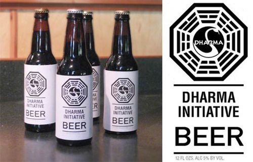 DHARMA initiative BEER LOST TV  SHOW ABC SWAN LOGO Can