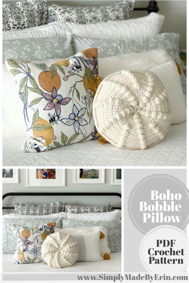 The Boho Bobble Pillow - DIY Crochet Pattern
