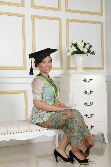 Photo of Graduation – simple make up and hair do – wearing kebaya modern