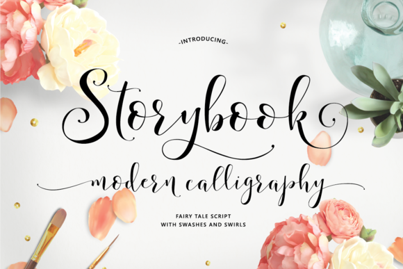 Storybook Calligraphy Script by Emily Spadoni on
