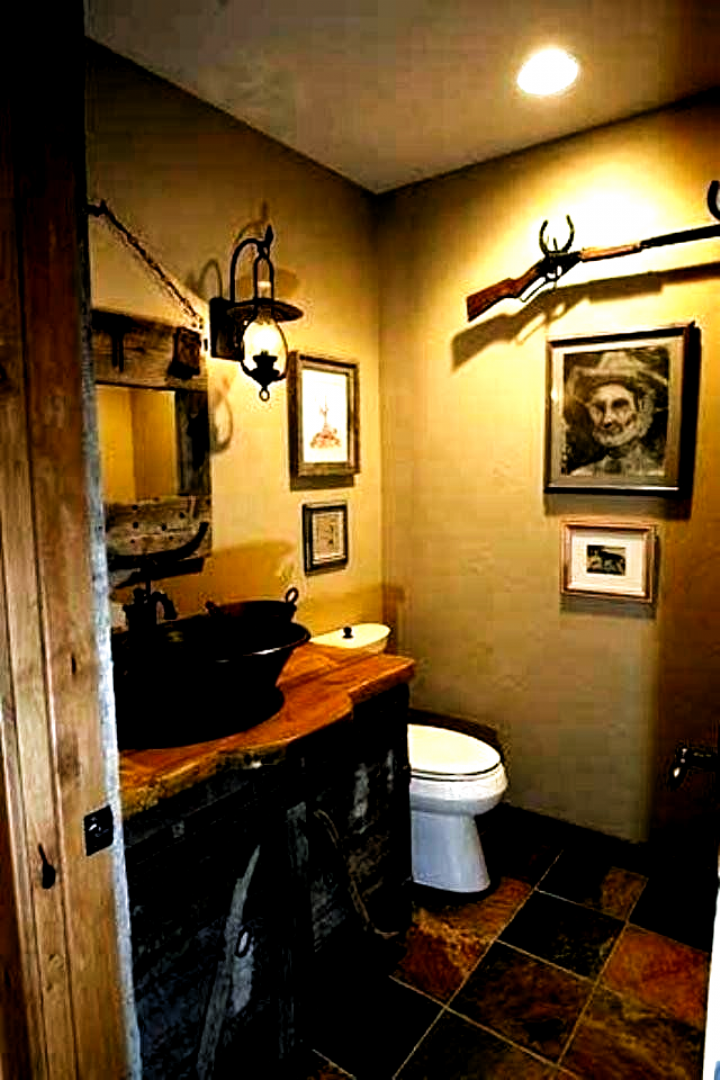 Country Western Bathroom Decor Awesome Cabin Bathroom Ideas Nicaea Bathroom Decor Ideas Themes In 2020 Man Bathroom Man Cave Bathroom Rustic Bathrooms