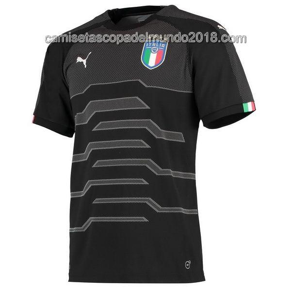 6121572f4099d Portero Camiseta Seleccion Italia Mundial 2018 Negro