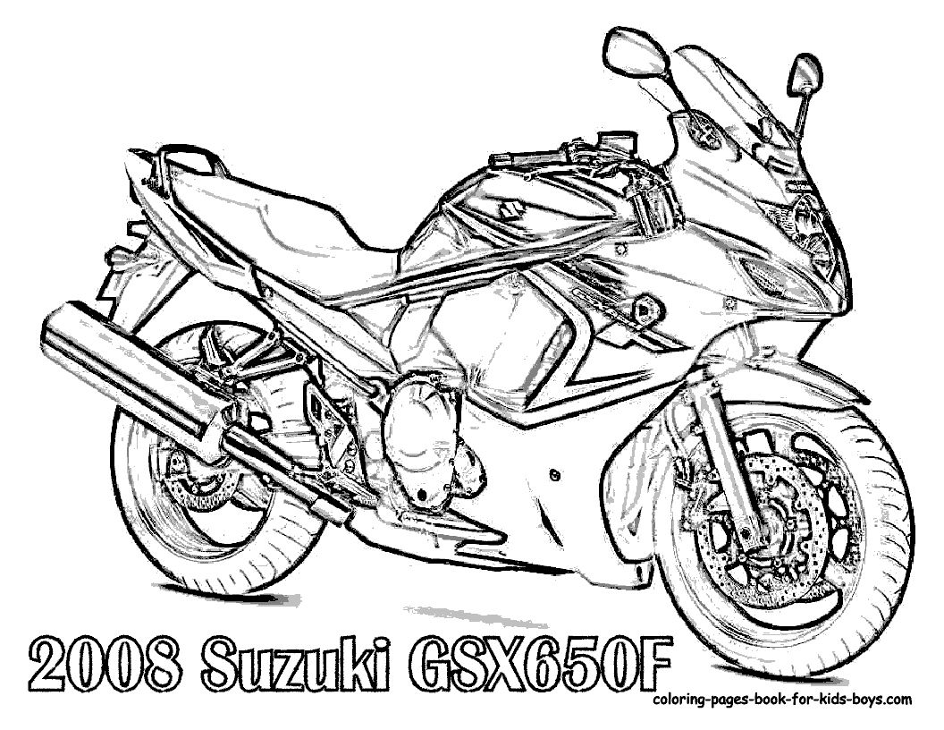 34 new motorcycle coloring pages