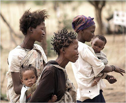 mothers and babies - looks like the San folk