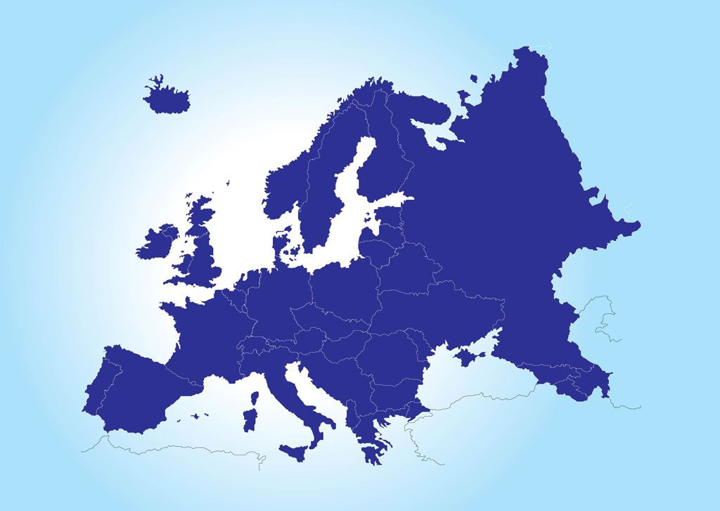 Europe continent map map of europe vector places to visit europe continent map map of europe vector gumiabroncs Choice Image