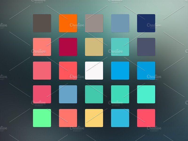 125 Flat Color Swatches Color Swatches Flat Color Flat Design Website