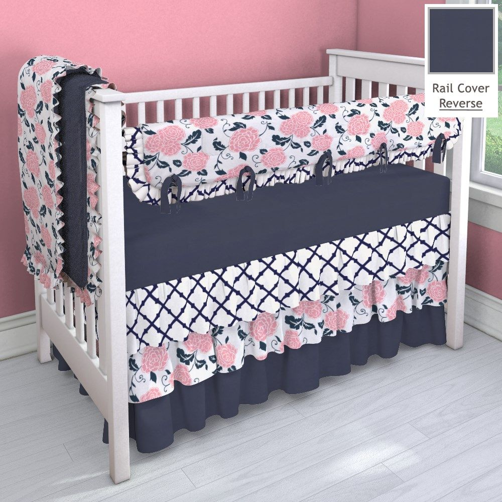 Best Navy And Coral Pink 3 Tier Nursery Idea Customizable 400 x 300