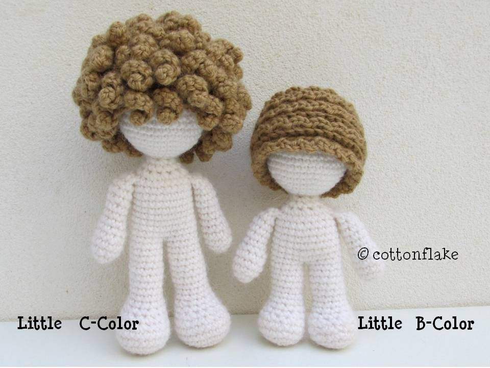 Discovered a new way of doing hair on amigurumi (using felting ... | 720x960