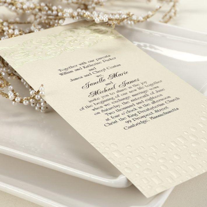 Carlson Craft Pocket Wedding Invitations: Flowing Artistry - Rapunzel