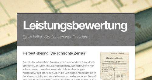 Leistungsbewerwtung Herbert Jhering Die Schlechte Zensur Brecht