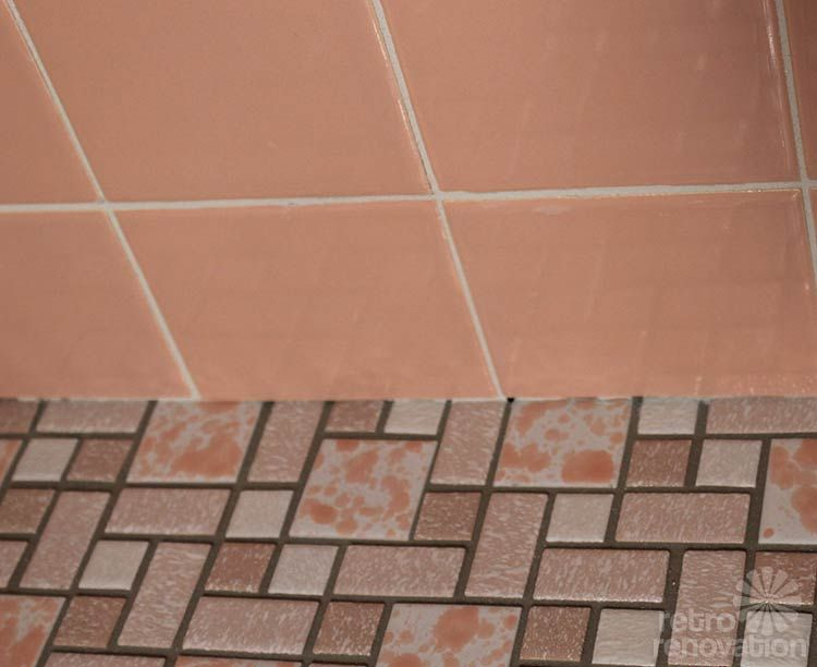 In This Short Video Kate Shows Us Her Pink Bathroom Wall Tiles Now Grouted With White She Used Epoxy Grout On These Walls As Well Floor