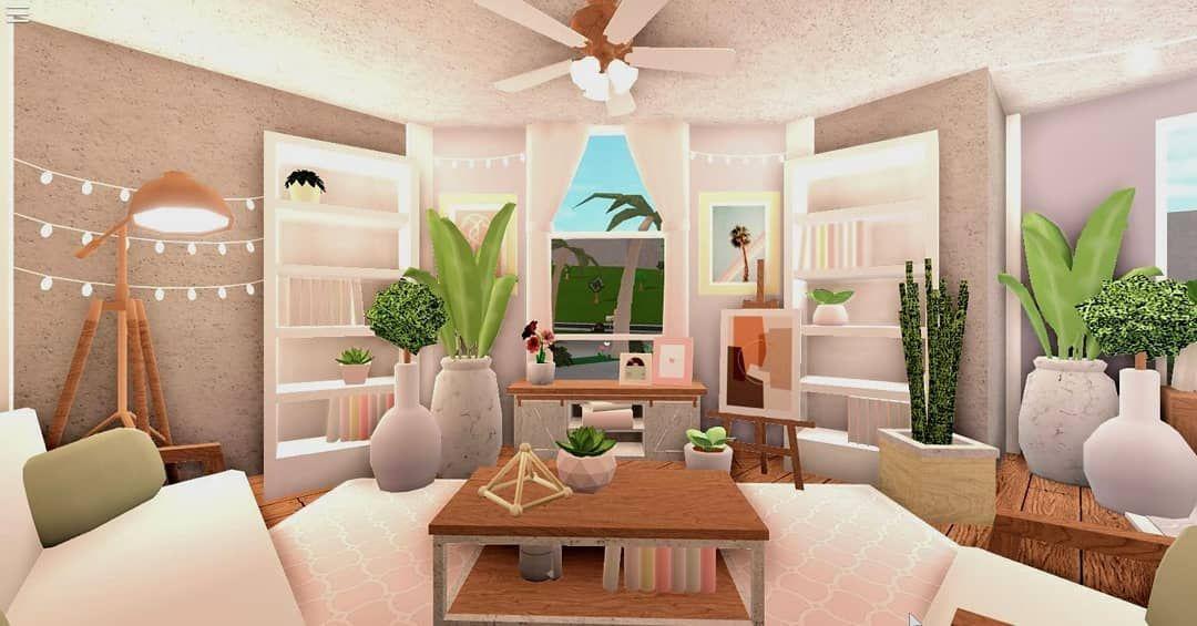 Bloxburg Cozy Aesthetic Living Room In 2021 Aesthetic Living Room Interior Design Design Living room ideas on bloxburg