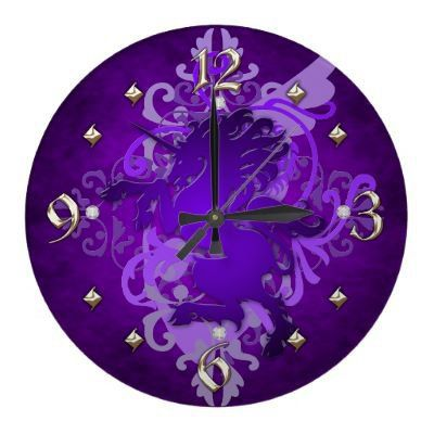 Shades if Purple Wall Clock