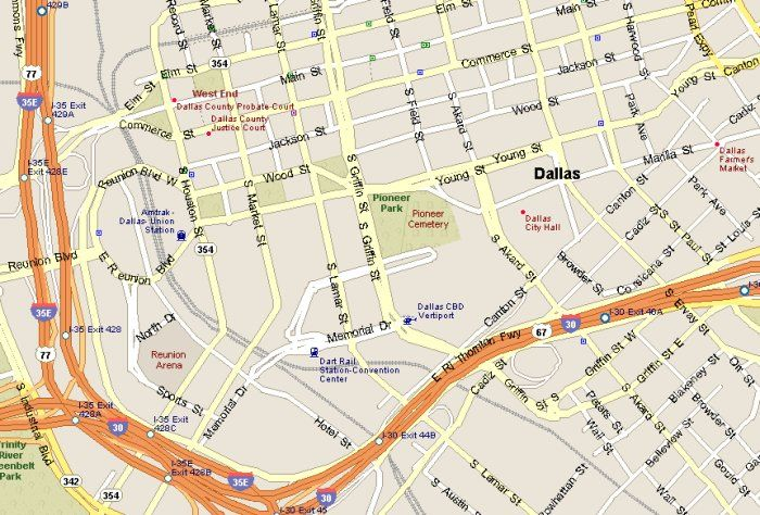 Downtown Dallas Attractions Map | Dallas attractions, Map ... on