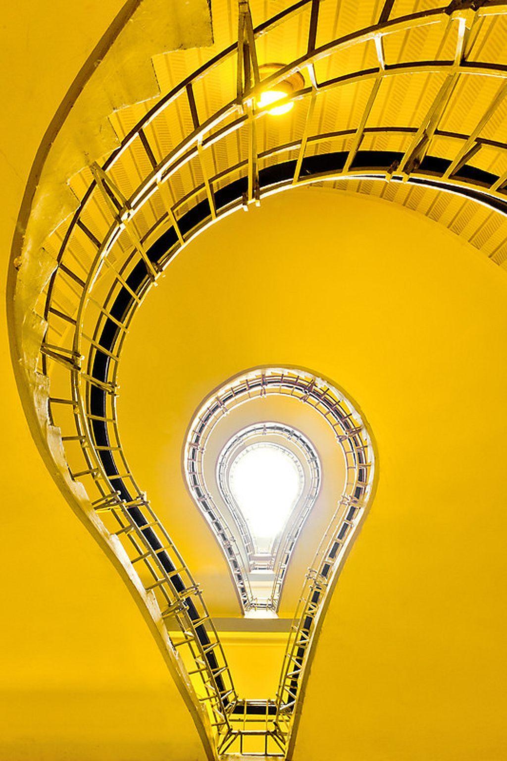 31 Light Bulb Staircase In Prague Prague, Bulb, Staircase