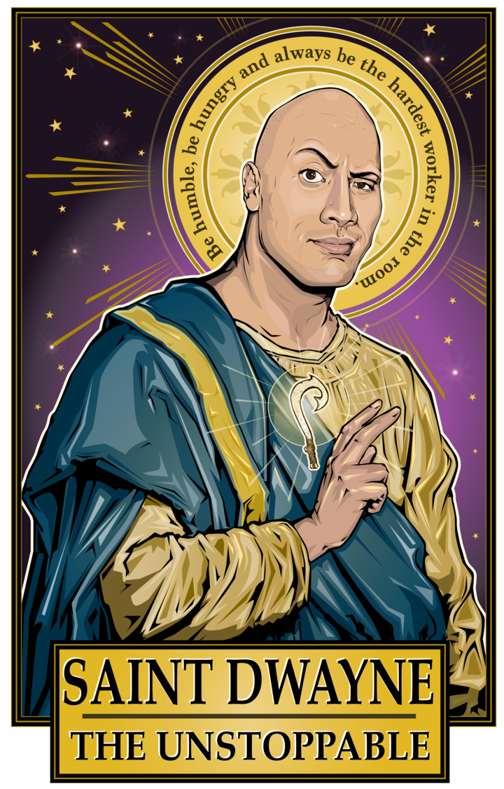 Photo of Saint Dwayne The Unstoppable  Poster