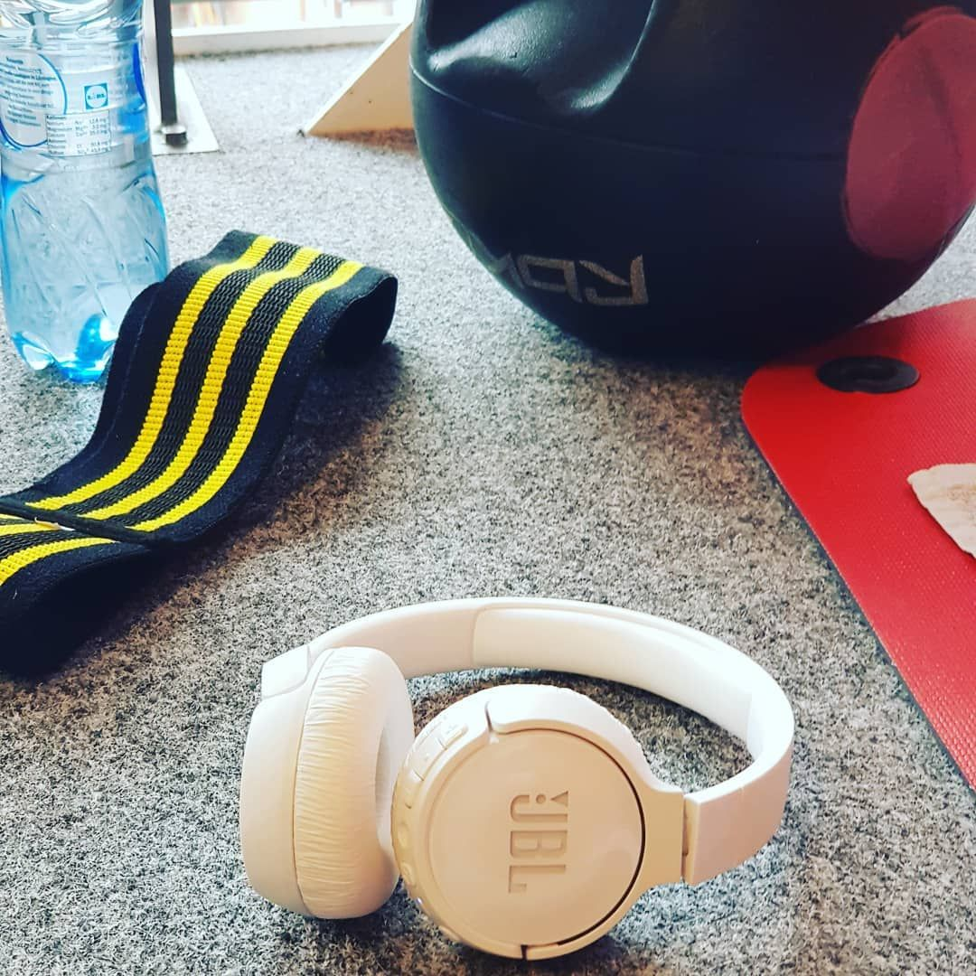 While working out, a musthave for me are my JBL headphones! For me, good music represents a good wor...