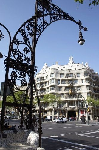 Casa Milà on the Passeig de Gràcia, Barcelona. we walked by this pretty building