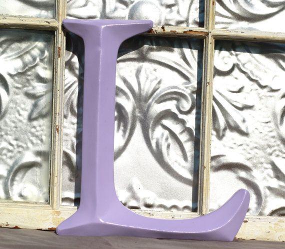 Buchstabe L Orchidee / Sign Letter / Wand Großbuchstabe L / lila Anfangsbuchstaben / Hochzeit / Photo Stand / Kindergarten / Mantel / Urban Dekor