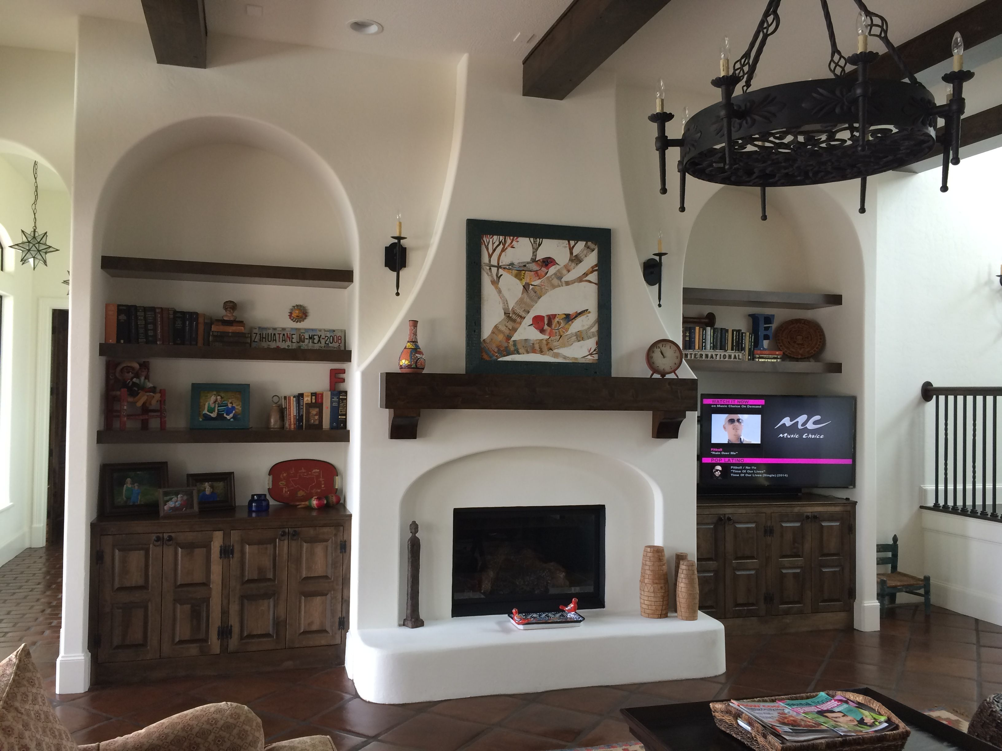 Image Result For Spanish Style Large White Stucco Fireplace Image Result For Spanish Style Large White Stucco