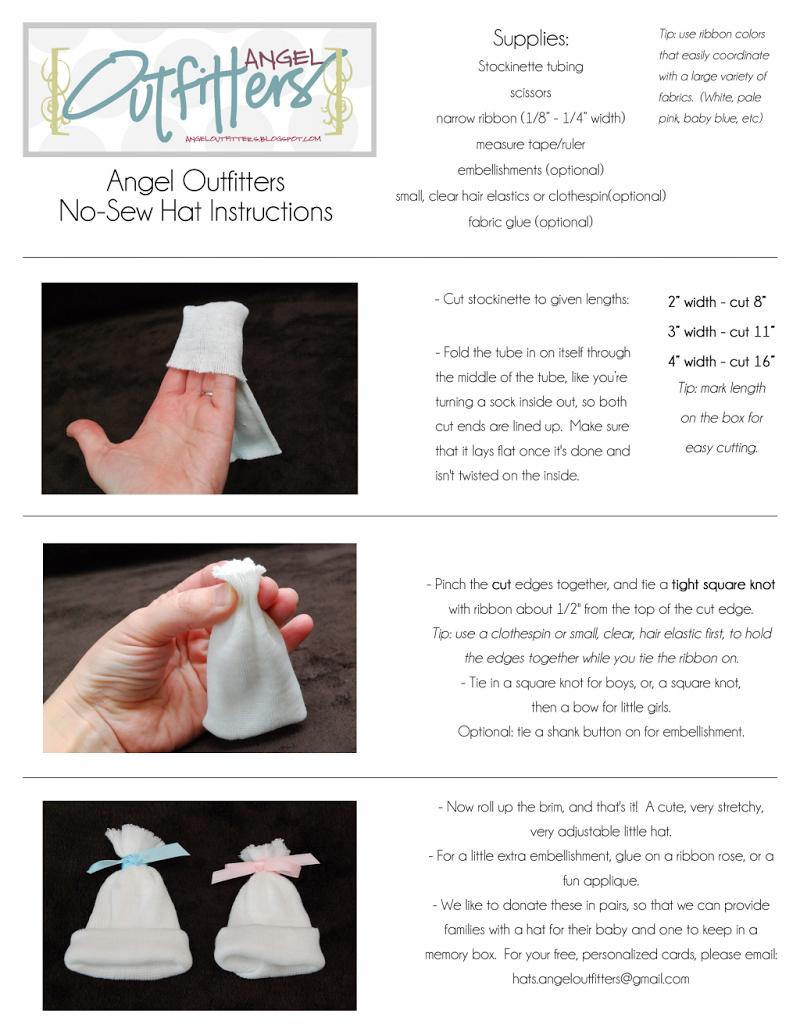 No Sew Hats Printable Instructions 1213 pdf - Google Drive | NICU