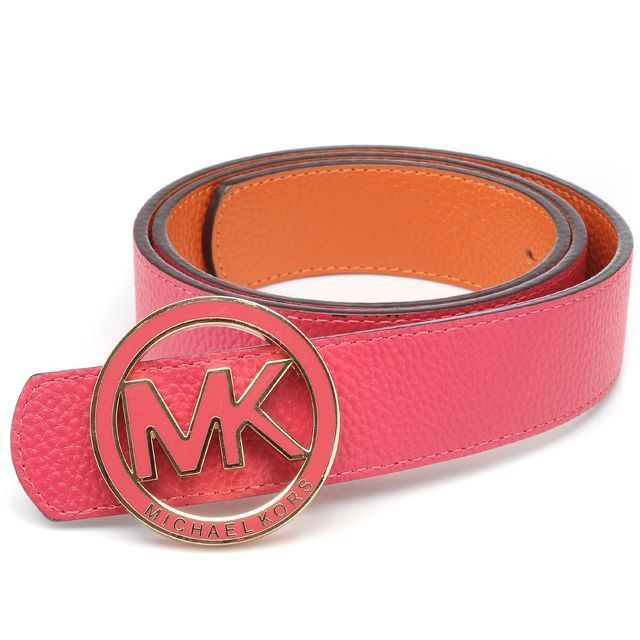 Michael Kors Logo-Medallion Leather Large Pink Accessories Outlet