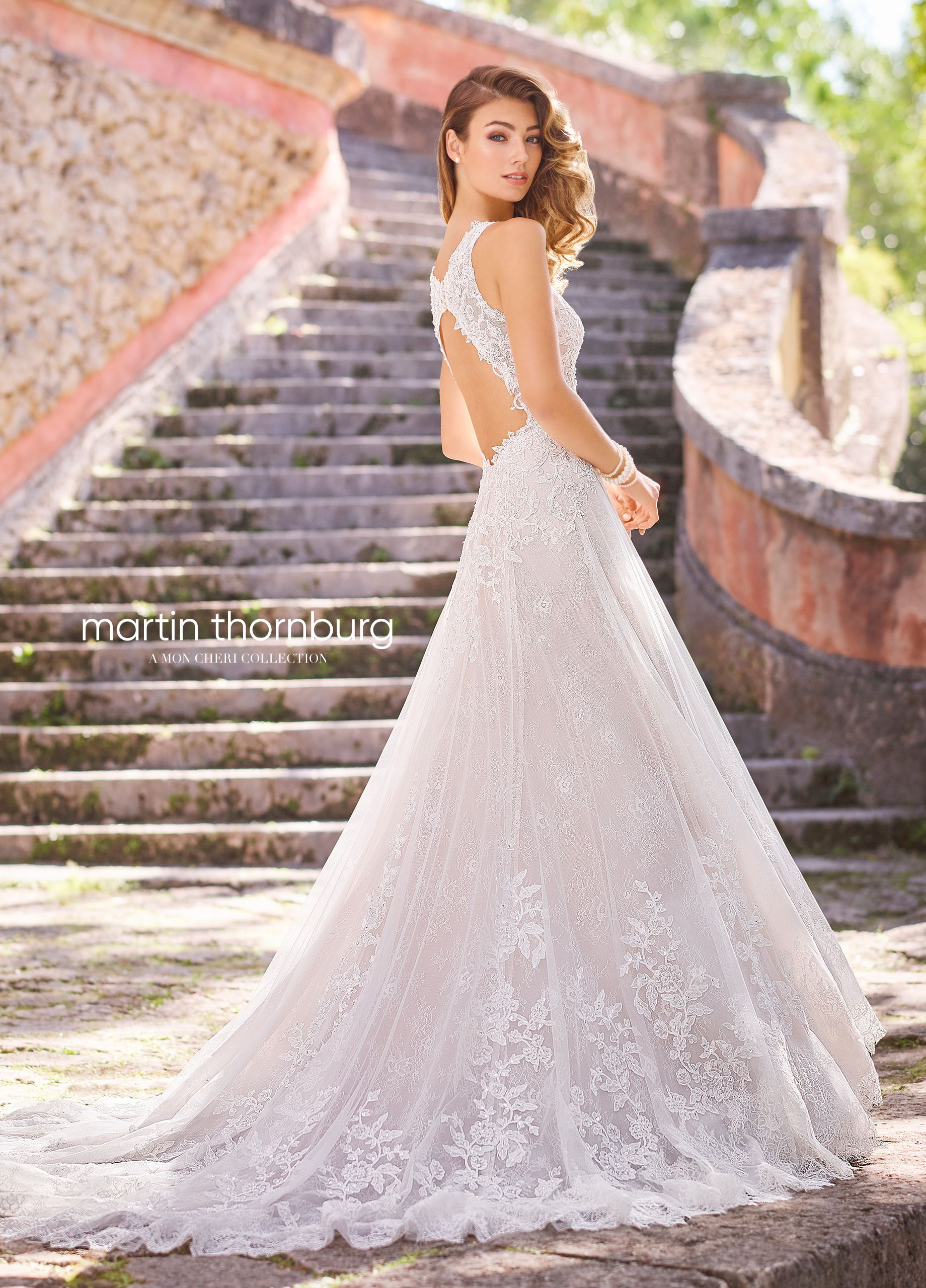 63163f476883 Sleeveless Allover Lace   Tulle A-Line Wedding Dress with a Beaded ...