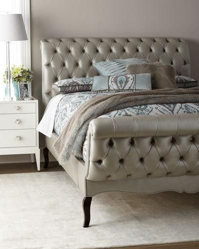 Haute House Duncan Fife Leather King Bed California King Bedding