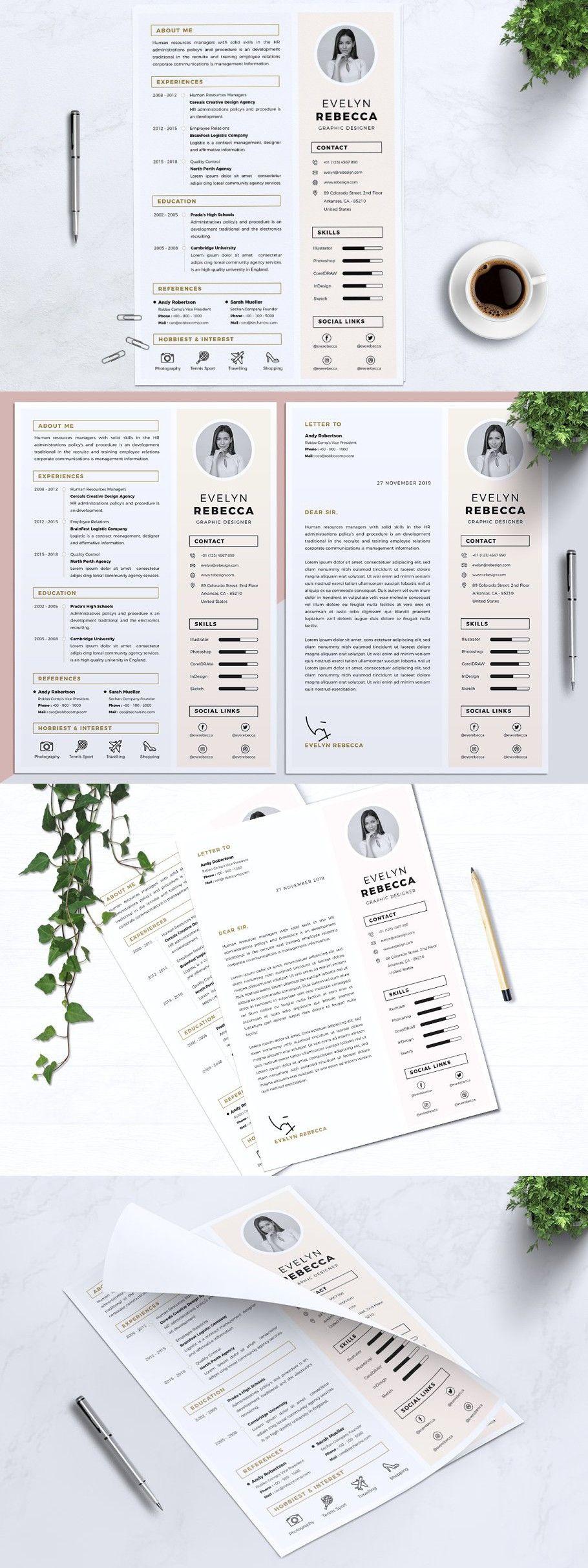 Minimalist CV Resume Vol. 03 in 2020 Cover letter for