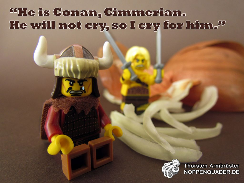 #lego moc #conan #onion barbarian minifig minifigs noppenquader