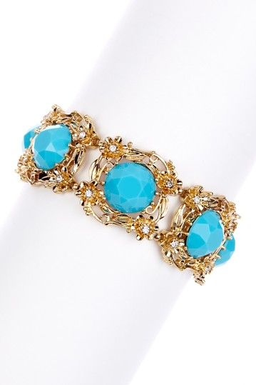 Filigree Resin Stone Bracelet