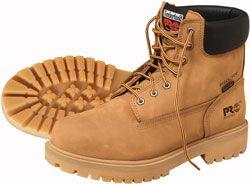 """Timberland PRO ® Wheat Boots  6"""" w/ Plain Toe - 7"""