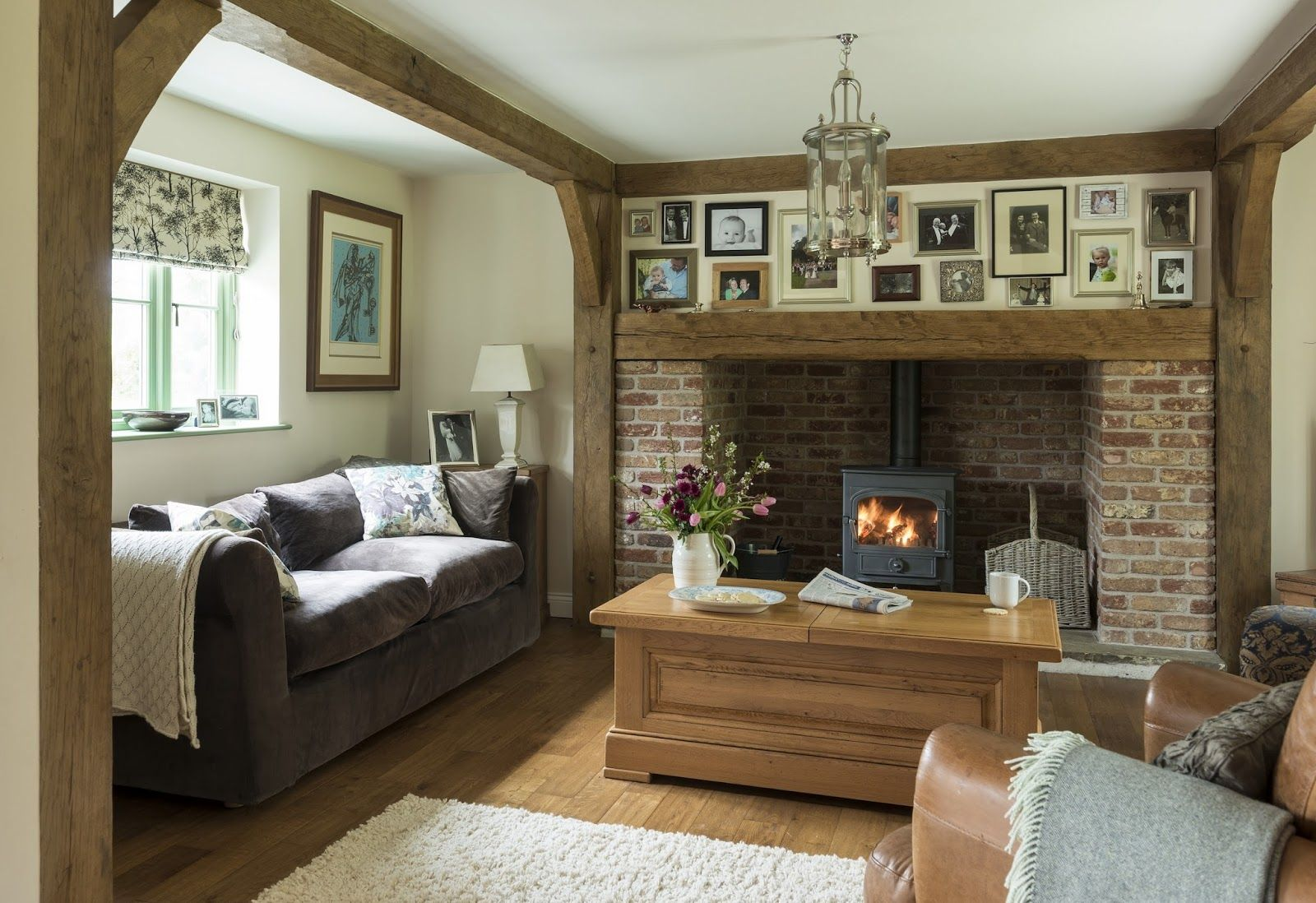 Green oak house pinterest brick fireplace herefordshire fc