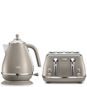 Taupe kettle. | Whistling tea kettle