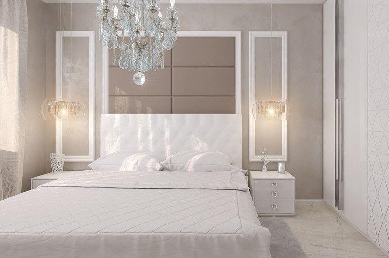 Raumgestaltung schlafzimmer ~ Weißes schlafzimmer mit wandgestaltung in neutraler nuance ideas