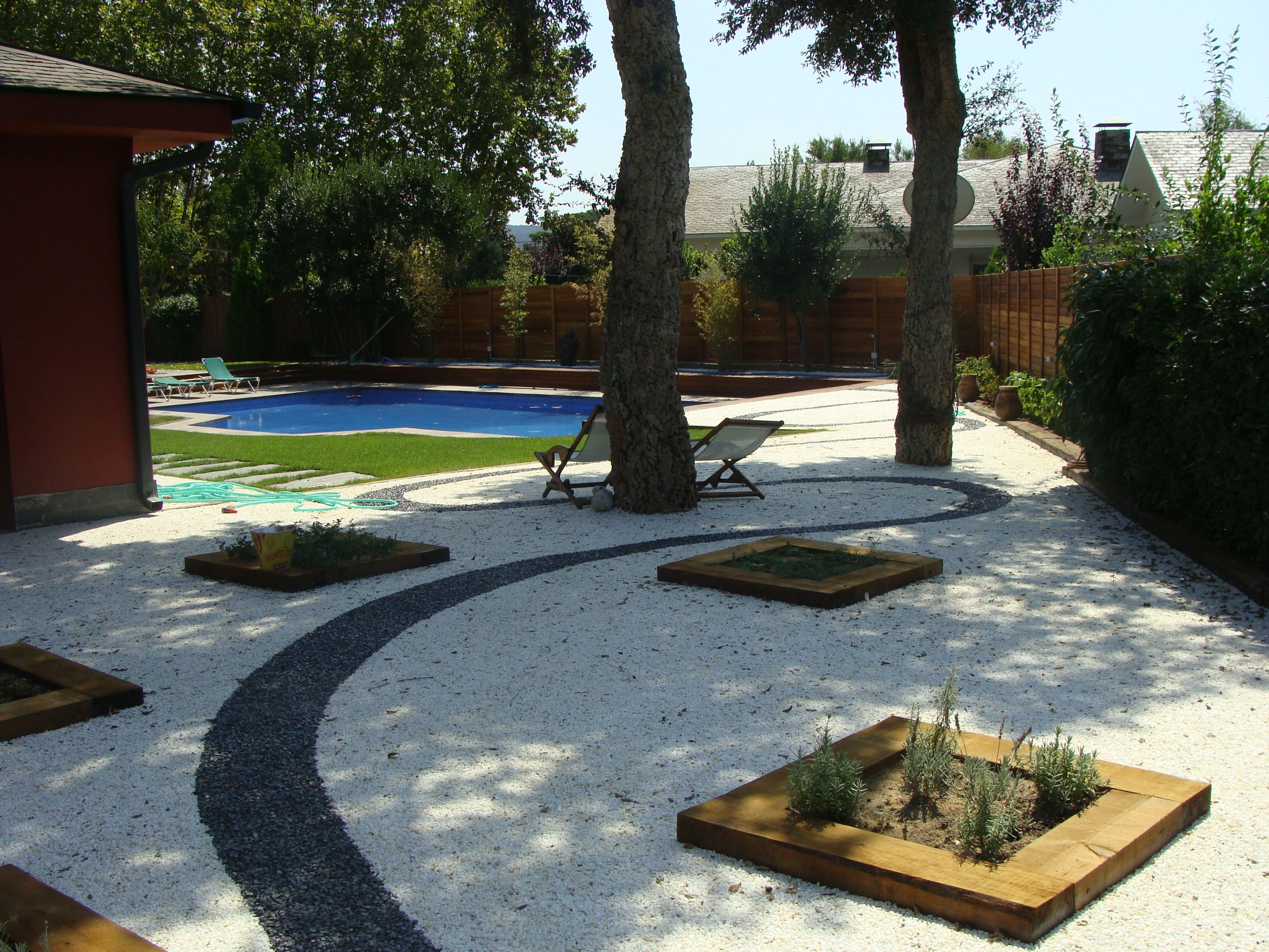 Jardines sin mantenimiento con fixgrav grava de color for Ideas para patios y jardines