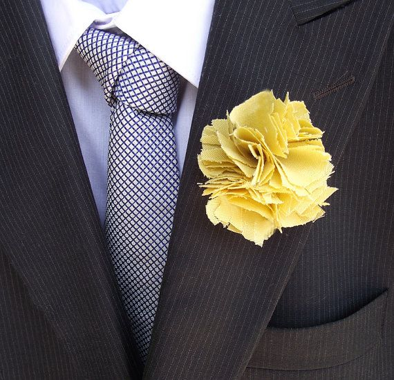 Eco Boutonnieres made to order in Linen, Cotton, Eco Felt, Natural Colors and Simply Elegant Designs