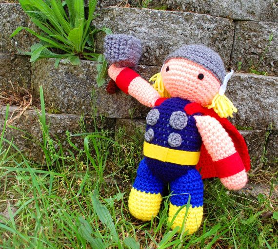 My Hero Thor with Hammer PDF Crochet Toy Pattern INSTANT DOWNLOAD ...