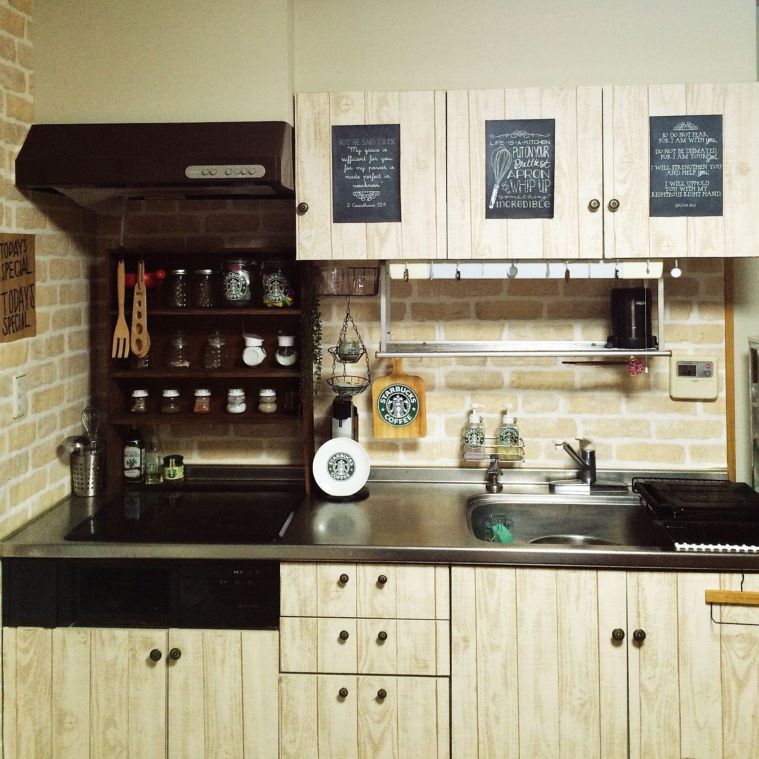 キッチン 3coin S Ikea キャンドゥ ダイソー などのインテリア実例