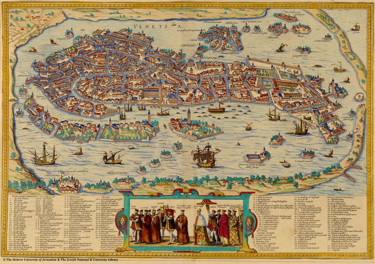 1565 map of Venice – very detailed if you click through ...