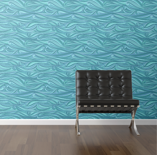 Waves Removable Wallpaper.